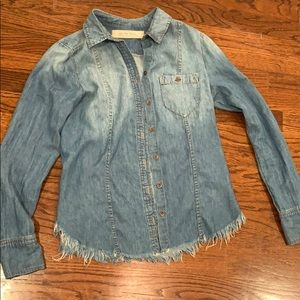 Light washed jean jacket (not real jean)